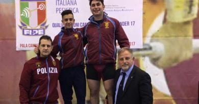 Atleti nisseni della sezione giovanile delle Fiamme oro agli Europei