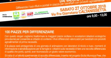 """Lunedì 22 ottobre Legambiente presenta """"100 Piazze per differenziare"""""""