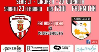Pro Nissa futsal, sabato al Pala Milan arriva il Palermo calcio a 5