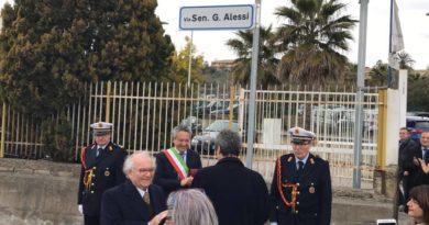Intitolazione di via Due Fontane a Giuseppe Alessi primo presidente della Regione siciliana