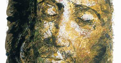 F. Guadagnuolo- interpreta il Volto di Cristo dell'Ultima Cena per i Cinquencento anni di Leonardo Da Vinci